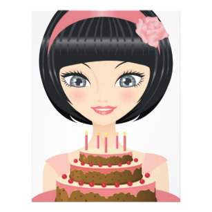 happy birthday cake with 8 5 x 11 flyers zazzle