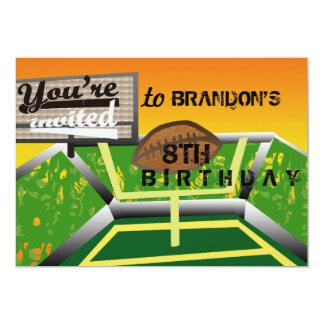 Birthday football 5x7 paper invitation card