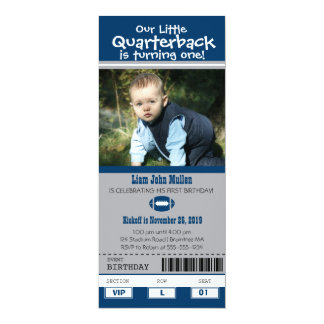 Birthday Football Ticket Card