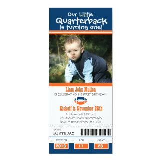 Birthday Football Ticket 4x9.25 Paper Invitation Card