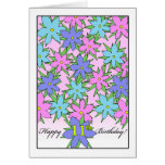 Birthday for 11 Year Old Girl, Pastel Flowers Card
