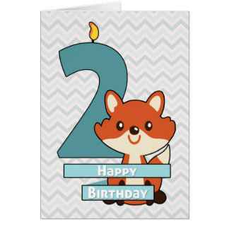 Birthday for a Child Turning Two Years Old Card