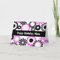 Birthday for a mom, bright flowers. card