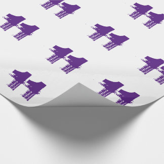 Birthday for an eleven year old, purple on white. wrapping paper