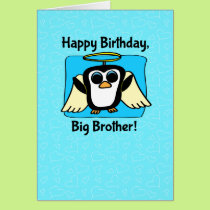 Birthday for Big Brother - Little Angel Penguin Card
