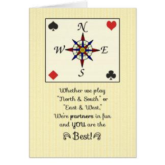 Birthday for  Bridge Partner, Partners in Fun Card
