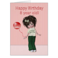 8 year old girl cards greeting photo cards zazzle 8 year old girl cards birthday for eight year old bookmarktalkfo Images