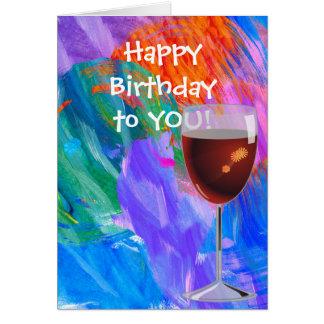 birthday for friend-wine glass card