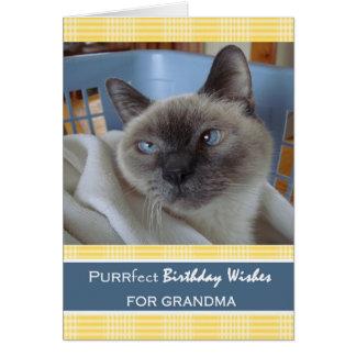 Birthday for Grandma, Cat in Laundry Basket Card