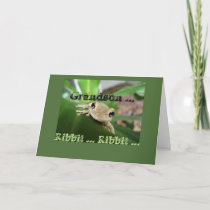 Birthday for Grandson, cute smiling frog. Card