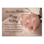 Birthday for Like a Mother to me aged 35 Greeting Card