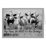 Birthday for Papaw Funny Cows Greeting Card