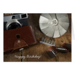 birthday for photographer-photography equipment card
