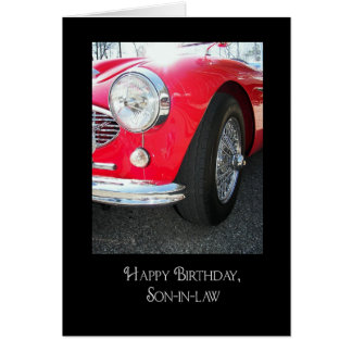 birthday for son-in-law vintage sports car card