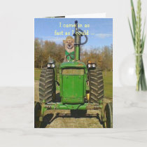 Birthday for Tractor Fans Card