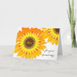 """Birthday for Wife, Bright Cheery Sunflowers Card<br><div class=""""desc"""">Happy Birthday for a wife,  Sunflowers Design. Bright and colorful design with sunflowers in shades of yellow,  orange,  gold,  and brown. Digital art floral illustration. Bring a little sunshine to someone's birthday. Art,  image,  and verse copyright © Shoaff Ballanger Studios</div>"""