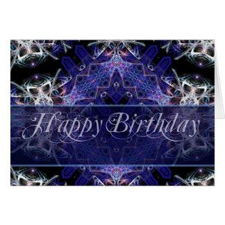Birthday Fractal Art Card