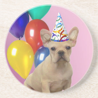 Birthday French Bulldog Coaster