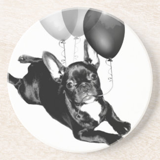 Birthday French Bulldog Drink Coaster