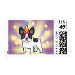 Birthday French Bulldog Stamp