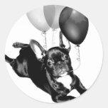Birthday French Bulldog stickers