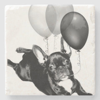 Birthday French Bulldog Stone Coaster