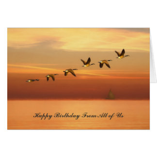 Birthday, From All, Canada Geese in Flight Card