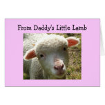 BIRTHDAY FROM DADDY'S LITTLE LAMB CARD