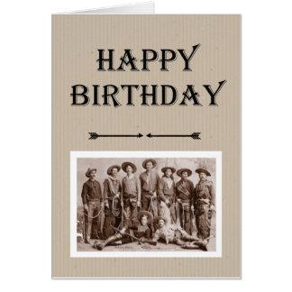 Birthday from Gang Vintage Cowboys Fun Card