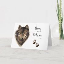 Birthday from Group,  Wolf, Wolves Animal Nature, Card