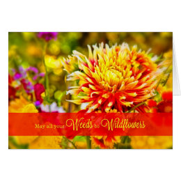 Birthday from the Group - Wildflowers Card