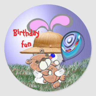 Birthday Fun Classic Round Sticker