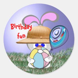 Birthday Fun Round Sticker