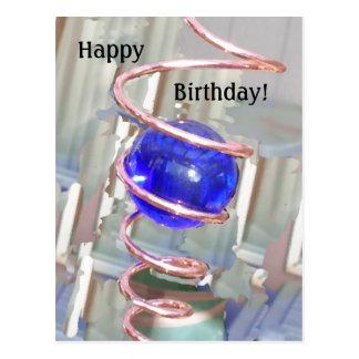 Birthday Gazing Ball Postcard