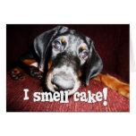 Birthday General - Nosy Doberman Pinscher Puppy Greeting Card