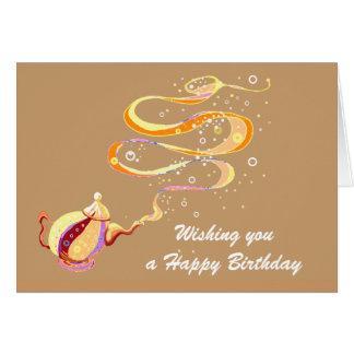 Birthday genie greeting card