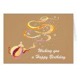Birthday genie greeting cards