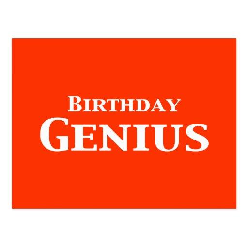 Birthday Genius Gifts Postcard