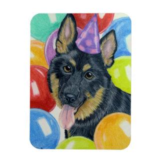Birthday German Shepherd Rectangular Magnet