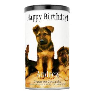 Birthday German Shepherds Hot Chocolate drink mix