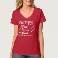 Birthday Gift Grunge Text Born in AUGUST V09 T-Shirt