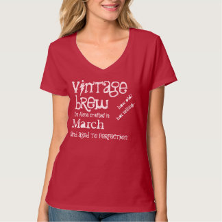 Birthday Gift Grunge Text Born in MARCH V04 T-Shirt