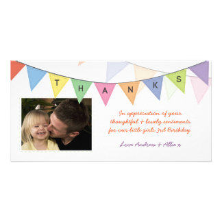 Birthday Gift Thank You Banner Glossy Photocard Card
