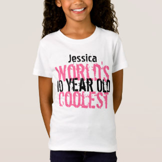 Birthday Gift World's Coolest 10 Year Old G201 T-Shirt