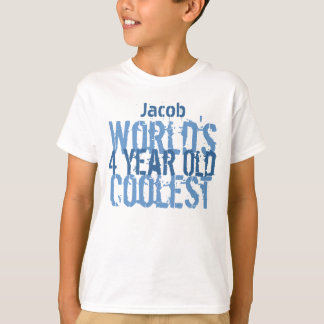 Birthday Gift World's Coolest 4 Four Year Old Boy T-Shirt
