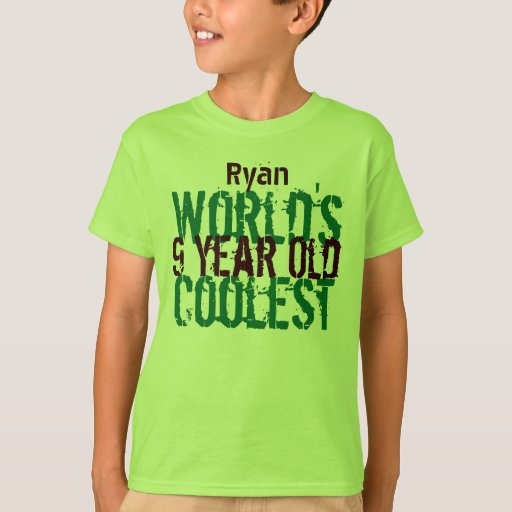 Birthday Gift World's Coolest 9 Nine Year Old G209 T-Shirt