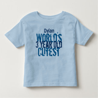 Birthday Gift World's Cutest 3 Three Year Old Toddler T-shirt
