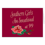 Birthday Gifts for Southern Girls Greeting Card