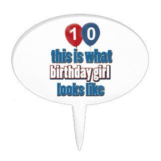 Birthday Girl 10 Cake Picks