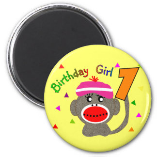 "Birthday Girl ""1"" year old Magnet"